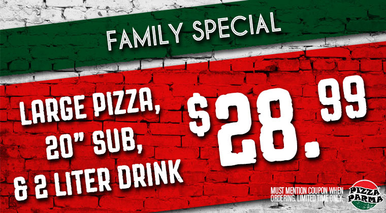 Pizza Parma FamilySpecial Specials & Coupons