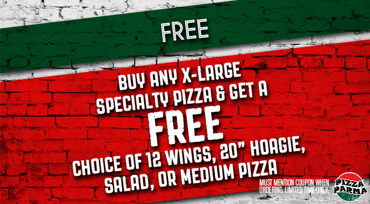 Pizza Parma Free Specials & Coupons
