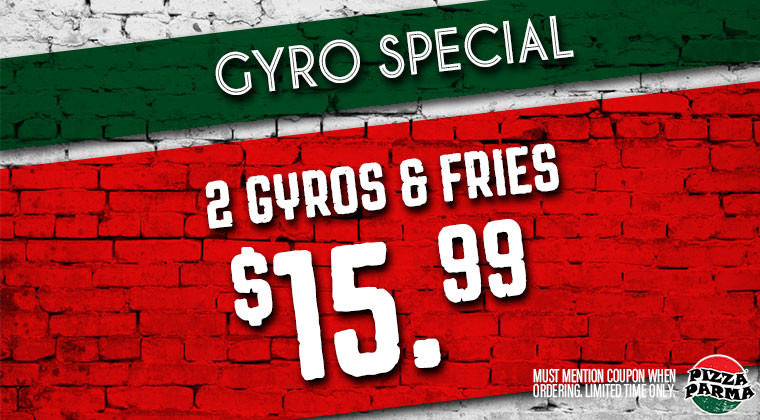 Pizza Parma GyroSpecial Specials & Coupons