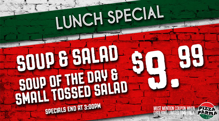 Pizza Parma LunchSpecial5 Specials & Coupons