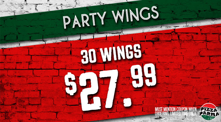 Pizza Parma PartyWings Specials & Coupons