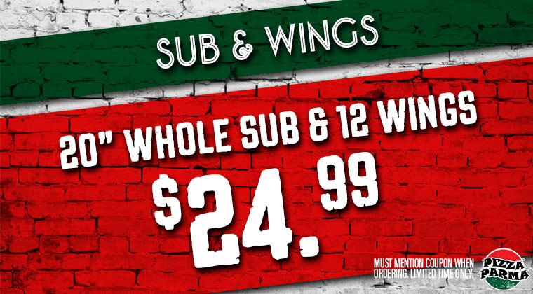 Pizza Parma SubWings Specials & Coupons